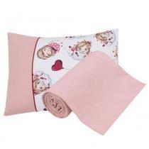 Jogo de Cama para Berço Pink Girls 2 Peças - Lynel - Lynel