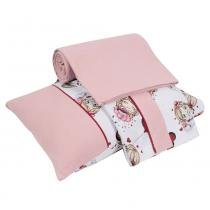 Jogo de Cama para Berço Pink Girls 3 Peças - Lynel - Lynel