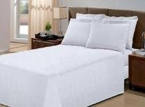 Jogo de cama queen 4 peças - percal 150 fios 100 algodão - Fassini têxtil