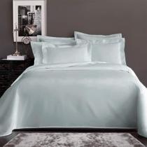 Jogo de Cama Queen Corttex Home Design Liso Cinza Claro 200 Fios -