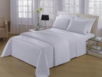 Jogo de cama queenl 4 peças - percal 180 fios misto - Fassini têxtil
