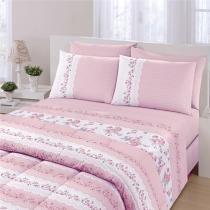 3818ae3d99 Jogo de cama royal solteiro maite 1 rosa - santista -