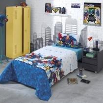 Jogo de cama Solteiro 100 Algodão Superman  Dohler -