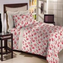 Jogo de Cama Solteiro Textil Lar Rosas 180 Fios - Textil Lar