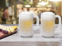 Jogo de Canecas de Chopp/Cerveja de Vidro - 355ml 2 Peças Out 1706902C2