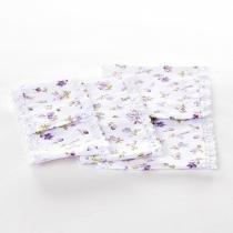 Jogo De Capas De Tecido Lilás Para Kit Higiene Bebê Menina  (Conj. 3 Peças) - Potinho de mel