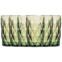 Jogo de Copos de Vidro para Cerveja 6 Peças - Verde 330ml Lyor Design Diamond 6499