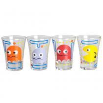 Jogo de copos para tequila pac man vdesign vidro 60ml 4 peças -