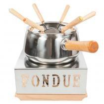 Jogo de fondue  wow aço inox 10 peças -