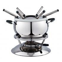 Jogo de fondue wow aço inox porcelana 11 peças -