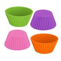 Jogo de formas redondas silicone coloridas 12 peças - Bololô