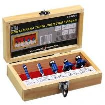 Jogo de Fresas para Tupia com 5 Peças Azul 684866 Lee Tools -