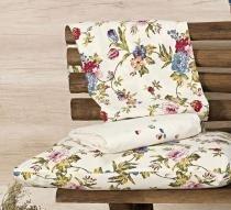 Jogo de Lençol Cerato Queen cor Floral Palha com 4 peças - Ione enxovais