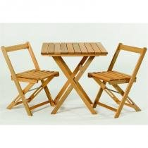 Jogo de Mesa com 2 Cadeiras Dobráveis Boteco Jatobá - Mão  Formão -