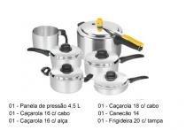Jogo de Panelas 6 Peças Conjunto Completo Flávia - Marlux
