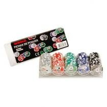 Jogo de Poker Profissional 100 Fichas - Incasa FN0006