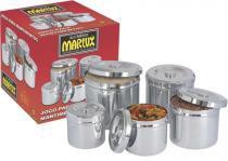 Jogo de Potes para Mantimentos 5 peças - Marlux - Marlux