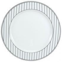 Jogo de Pratos Redondo de Sobremesa Porcelana - 6 Peças Schmidt Aline