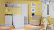 Jogo de Quarto Infantil Docinho Com 2 Nichos de Parede Meu Fofinho - Branco - Art In Móveis - Art In Móveis
