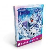 Jogo de Quebra-Cabeça - 100 peças - Disney Frozen - Olaf - Grow - Grow
