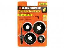 Jogo de Serra Copo para Madeira 5 Peças  - BlackDecker 71 120 A