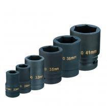 "Jogo de soquete de impacto sextavado 22 a 41 mm 1"" c/ 6 pçs - CH S-6K - Chiaperini - Chiaperini"