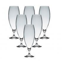 Jogo de taças cecilia bohemia cristal ecológico transparente 380ml 6 peças - Bohemia