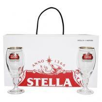 Jogo de Taças para Cerveja Vidro 4 Peças - Stella Artois Cálice