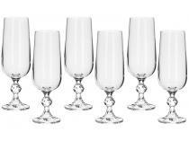 Jogo de Taças para Champagne Cristal 6 Peças - 180ml Bohemia Klaudie Sterna