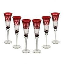 Jogo de Taças para Champanhe Vidro 6 Peças - Bon Gourmet Glass Line 6783