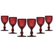 Jogo de Taças para Vinho Vidro 6 Peças - Bon Gourmet Glass Line 6749
