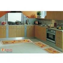 Jogo de Tapete para Cozinha Sisal Look SL42 Tulipa (2 tapetes e 1 passadeira) - Tulipa - Rayza Tapetes