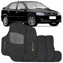 Jogo de Tapetes Carpete Astra Hatch Sedan 03 a 12 Grafite 5 peças - Flash