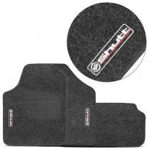 Jogo de Tapetes Carpete Shutt Universal Impermeável Base Antiderrapante 4 Peças Grafite - Shutt