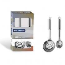 Jogo de Utensílios para Cozinha 2 Peças Útil Inox Martinazzo Cinza -