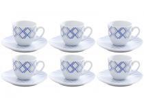Jogo de Xícaras para Café Porcelana 6 Peças Wolff  - Arpeggio