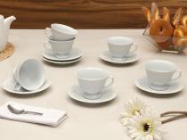 Jogo de Xícaras para Chá Porcelana 12 Peças - Schmidt White Pomerode
