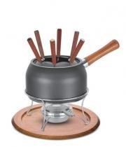 Jogo para fondue de alumínio com revestimento interno de antiaderente Paris Tramontina 20653619 - Tramontina cutelaria