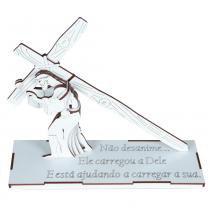 Jogo Quebra-Cabeça 3D Jesus Carregando a Cruz em MDF 1750 - Carlu - Carlu