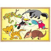 Jogo Quebra-Cabeça Animais da Fauna Brasileira 1851 - Carlu - Carlu
