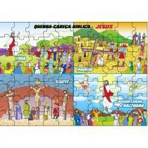 Jogo Quebra-Cabeça Bíblico Jesus/Vida/Ressurreição em MDF 1508 - Carlu - Carlu