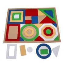 Jogo Quebra-Cabeça Geométrico Gigante com 30 Peças + 1 Base 1856 - Carlu - Carlu