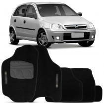 Jogo Tapete Carpete Corsa Hatch Sedan 02 a 12 Preto Grafia 5 Peças - Flash