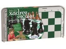 Jogo Xadrez Escolar Tabuleiro - 0782X Xalingo