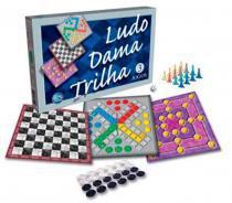 Jogos Ludo, Dama e Trilha - Pais e Filhos - Outras Marcas