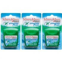 Johnsons Reach Menta Fio Dental 50m (Kit C/03) -