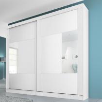 Joinville 2 portas Com Espelho - Branco/Rovere/Branco - Branco/Rovere/Branco - Panan