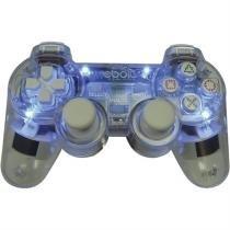 Joypad Play 2 Analogico Com 4 Leds Eb802 Transparente Ebolt -