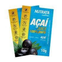 Juice 100 AÇAÍ - Nutrata Suplementos - 200g  - 20 sachês de 10g cada - Nutrata Suplementos
