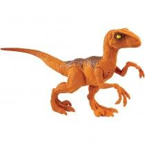 Jurassic World Velociraptor Laranja - Mattel -
